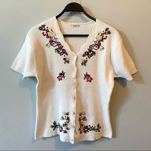 VTG Northern Reflections Embroidered Cardigan